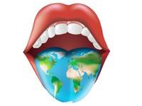 Het leren van een vreemde taal en emigreren